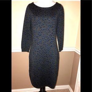 Ann Taylor LOFT leopard sweater dress small
